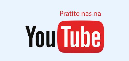 Pratite nas na YouTube